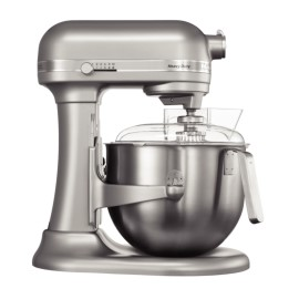 KitchenAid professionele mixer, 6,9 liter, metallic zilver