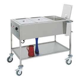 Gastronorm bain-marie wagen, 3/1 GN