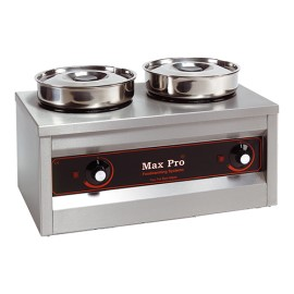 Max Pro 2-pans chocolade-warmer