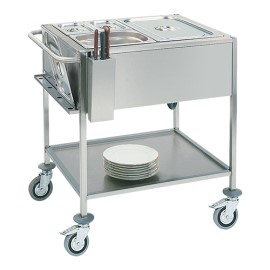 Gastronorm bain-marie wagen, 2/1 GN