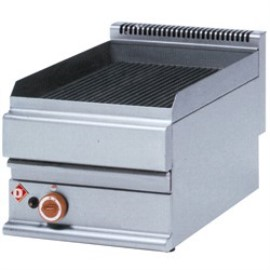 Diamond stoomgrill op gas, smal, top, Alpha 650