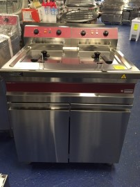 Diamond friteuse Fryers-Line 2x 14 liter, showmodel