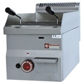 Diamond lavasteengrill, smal, top, Pro 600